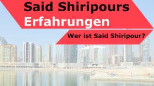 Titelbild mit dem Text: Said Shiripour Erfahrungen